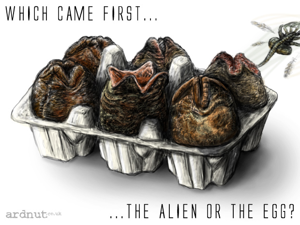 Which came first, the alien or the egg?